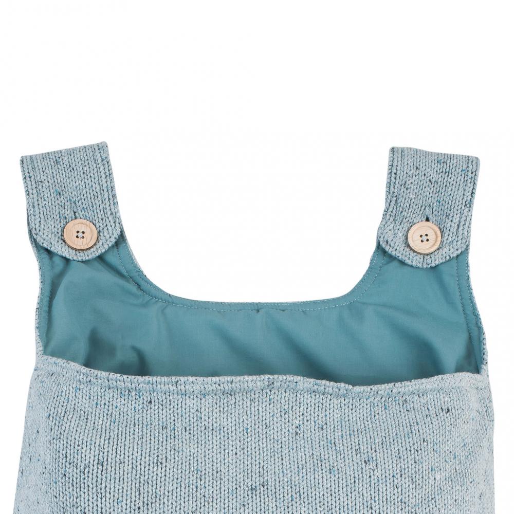 Sac tricotat pentru depozitare confetti Jollein verde