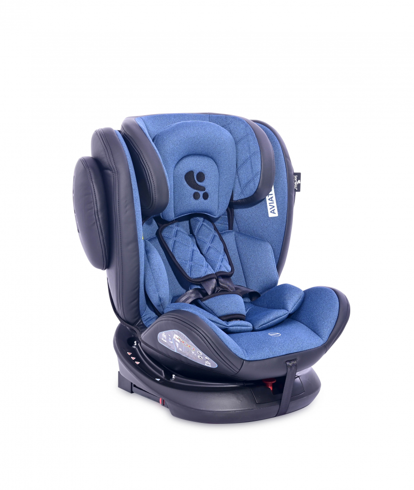 LORELLI Scaun auto Aviator cu isofix 0-36 kg rotativ 360 grade Black  Blue