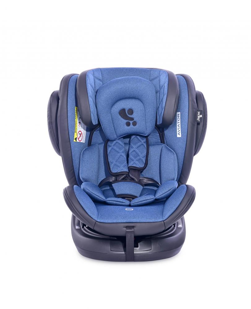 Scaun auto Aviator cu isofix 0-36 kg rotativ 360 grade Black Blue