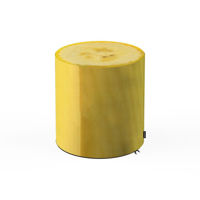 Taburet Units cilindru banana 30 x 30 cm