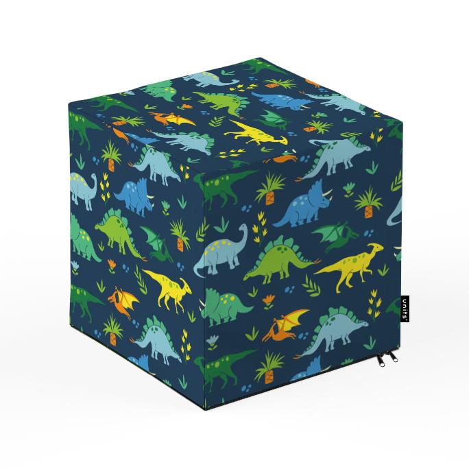 Taburet Units cub Dinozauri 30 x 30 x 30 cm