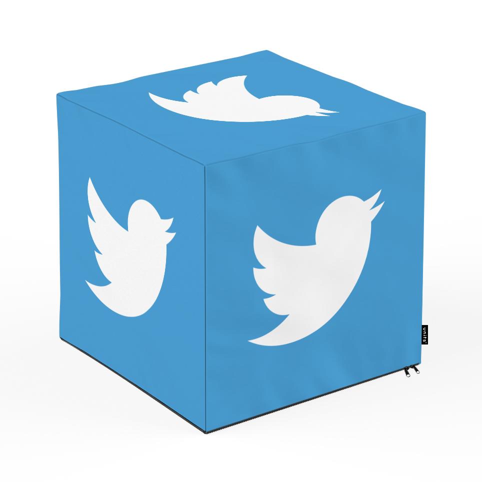 Taburet Units cub Social Media 5 45 x 45 x 45 cm