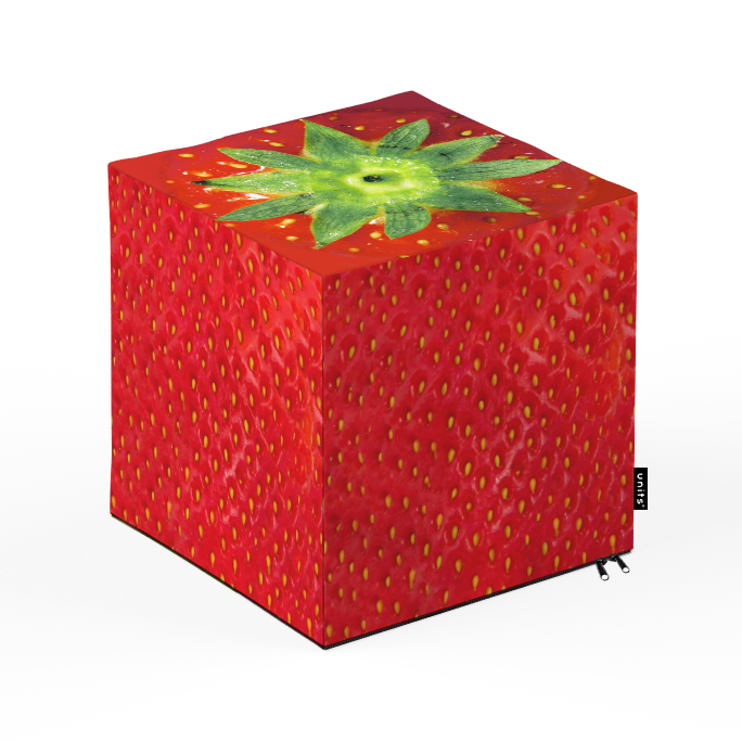 Taburet Units cub capsuna 30 x 30 x 30 cm