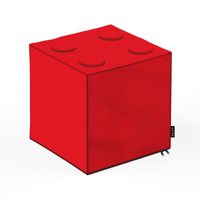 Taburet Units cub lego 30 x 30 x 30 cm