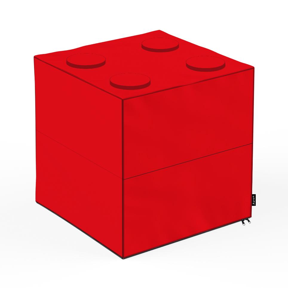 Taburet Units cub lego 45 x 45 x 45 cm
