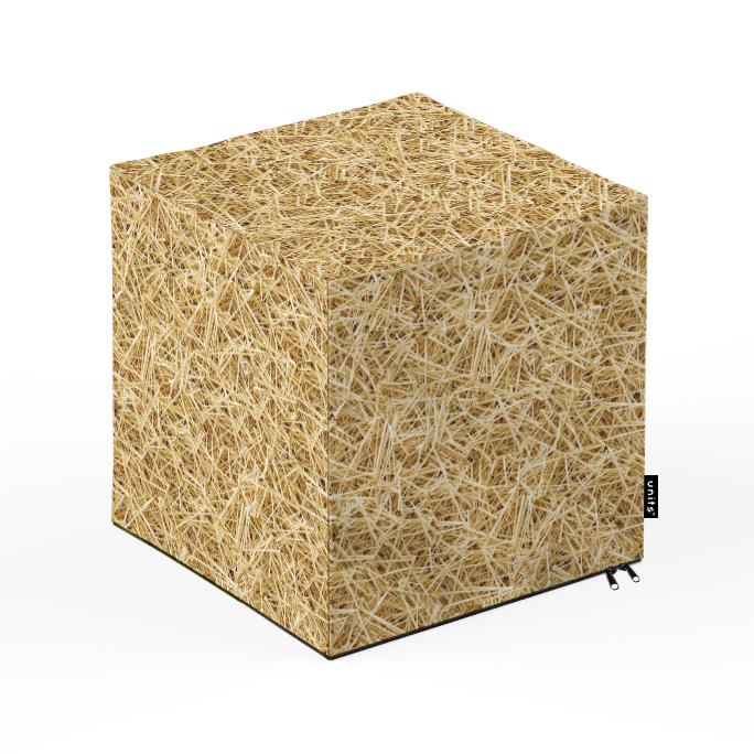Taburet Units cub paie 30 x 30 x 30 cm