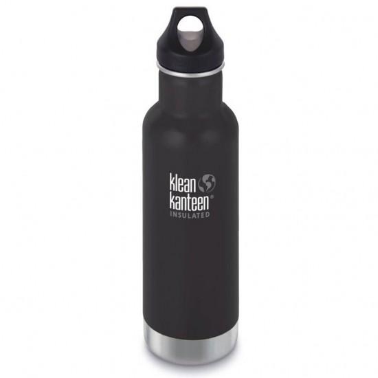 Termos din otel inoxidabil 592 ml cu capac ermetic Klean Kanteen Classic Shale Black