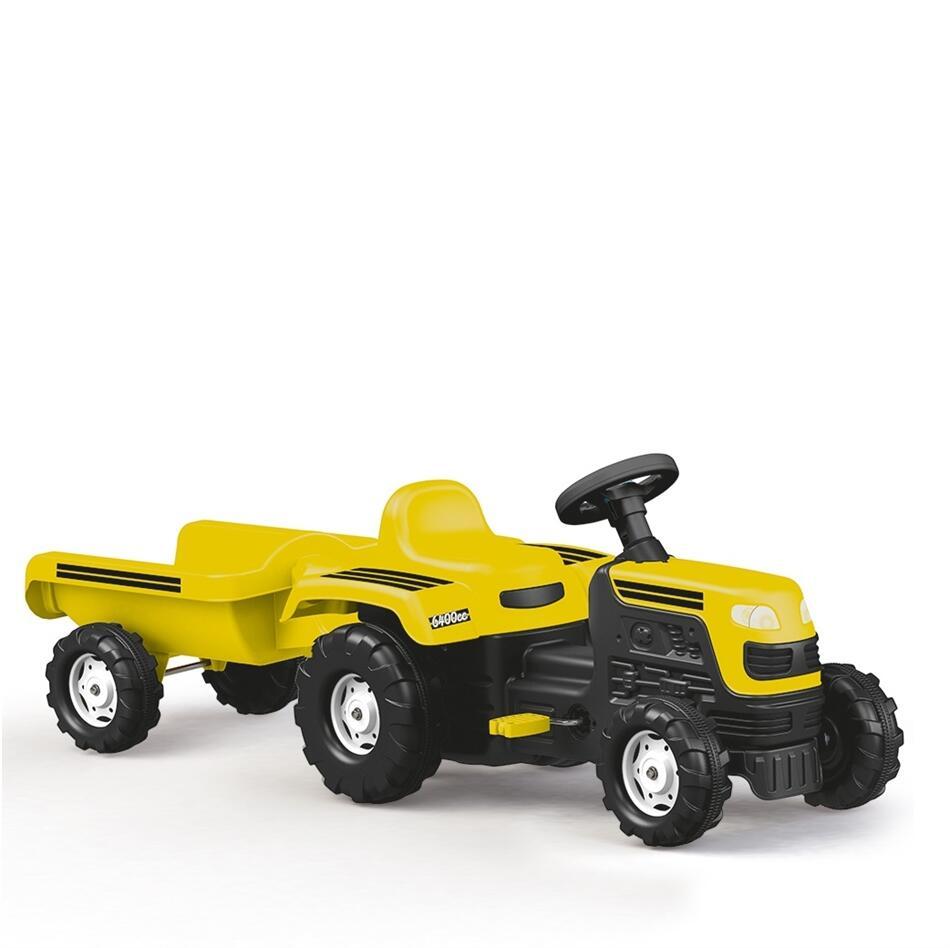 Tractor cu remorca Galben - 3