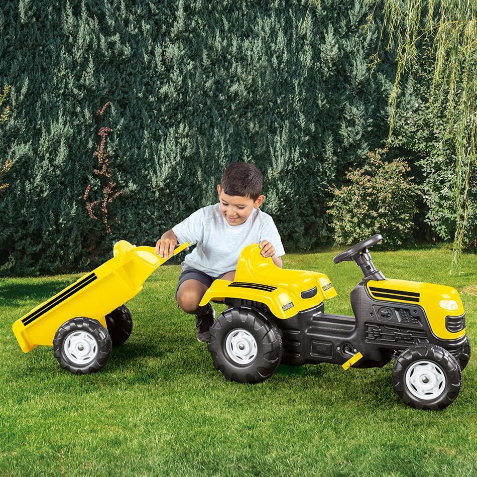 Tractor cu remorca Galben - 2