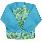 Bavetica multifunctionala cu maneci lungi Green Sprouts Aqua Sloth Jungle 12-24 luni