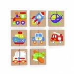 Blocuri magnetice cu imagini mijloace de transport Viga