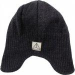 Caciula copii lana merinos tricotata superwash captusita cu bumbac Nordic Label Total Eclipse 1-2 ani