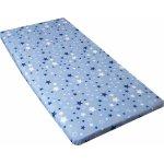Cearceaf din bumbac cu elastic 120x60 cm Stars Blue