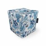 Fotoliu Units Puf Bean Bags tip cub impermeabil frunze albastre