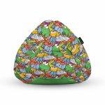 Fotoliu Units Puf Bean Bags tip para impermeabil cu maner broscute