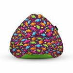 Fotoliu Units Puf Bean Bags tip para impermeabil cu maner candies fundal mov