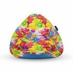 Fotoliu Units Puf Bean Bags tip para impermeabil cu maner fruits candy