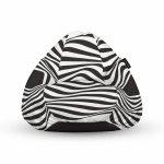 Fotoliu Units Puf Bean Bags tip para impermeabil cu maner abstract zebra