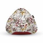 Fotoliu Units Puf Bean Bags tip para impermeabil cu maner flori si fluturi