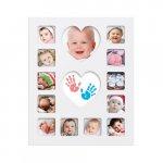 Rama foto primul an cu amprente bebe Happy Hands