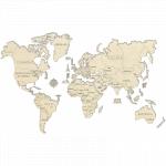 Harta lumii puzzle 3D de perete XL