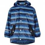 Jacheta copii impermeabila cu interior de bumbac pentru ploaie si vant Jersey Stripes 90 cm