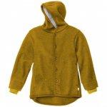 Jacheta din lana merinos organica tumble/boiled wool Disana Gold 74/80
