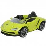 Masinuta electrica cu roti EVA  si scaun piele Lamborghini Centenario Green