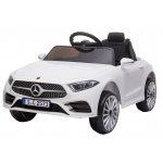 Masinuta electrica cu roti din cauciuc si scaun piele Mercedes CLS350 White
