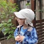 Palarie din bumbac organic cu protectie pentru urechi si snur Pickapooh Tom Linen 46