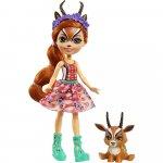 Papusa Enchantimals by Mattel Gabriela Gazelle cu figurina Racer