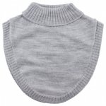 Pieptar copii lana merinos tricotata superwash Nordic Label Grey Melange 4-8 ani