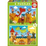 Puzzle Educa Dragons and Knights 2x48 piese