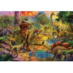 Puzzle Educa Land of dinosaurs 1000 piese include lipici puzzle