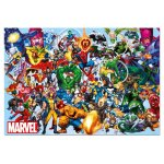 Puzzle Educa Marvel Heroes 1000 piese include lipici puzzle