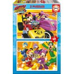 Puzzle Educa Mickey and the Roadster Racers 2x48 piese