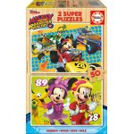 Puzzle Educa Mickey and the Roadster Racers 2x50 piese