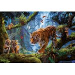 Puzzle Educa Tigers in the tree 1000 piese include lipici puzzle