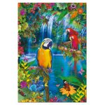 Puzzle Educa Tropical Paradise 500 piese include lipici puzzle