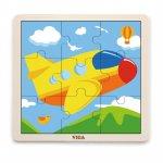 Puzzle din 9 piese mari avion