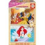 Puzzle din lemn Educa Disney Princess 2x25 piese