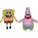 Set 2 jucarii din plus SpongeBob 16 cm si Patrick 23 cm