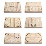 Set 6 modele blocuri arhitecturale de construit natur 158 buc Viga