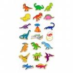 Set dinozauri magnetici din lemn 20 buc Viga
