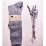 Sosete lungi Pia pentru copii lana+bumbac organic Lana Bambini Grey 26/28
