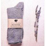 Sosete medii Chiara pentru adulti lana+bumbac organic Lana Bambini Grey 40/41