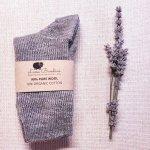 Sosete medii Pia pentru copii lana+bumbac organic Lana Bambini Grey 32/34