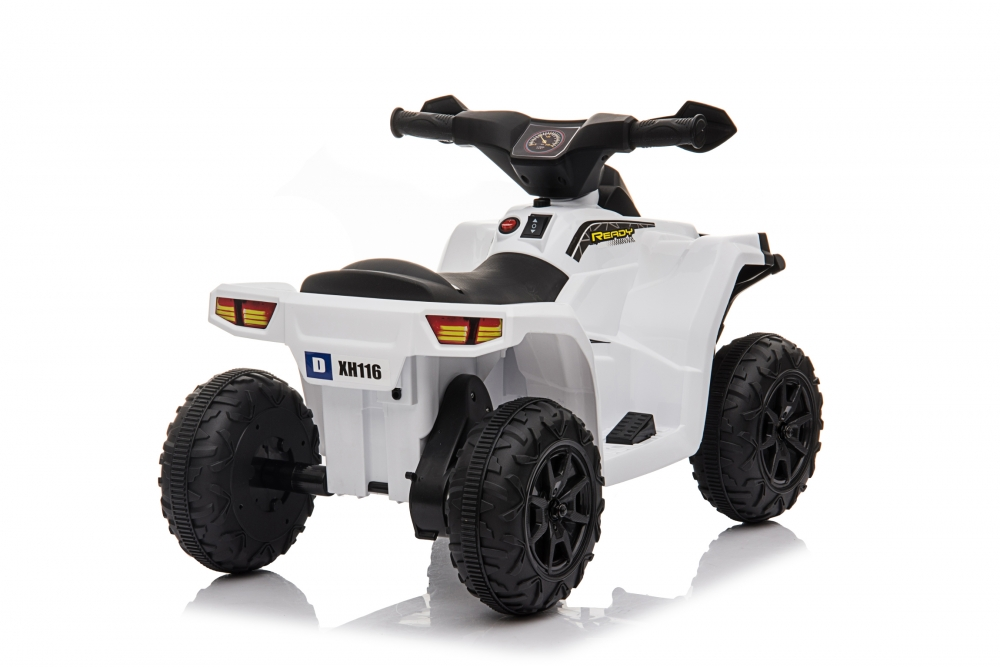 Atv electric 6V Nichiduta Racer X cu roti Eva White