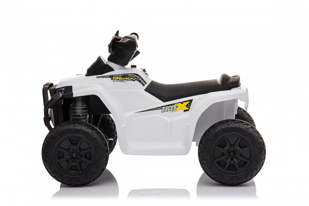 Atv electric 6V Nichiduta Racer X cu roti Eva White - 2