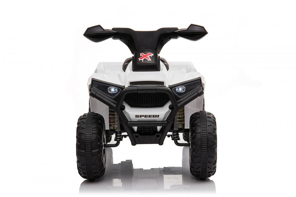 Atv electric 6V Nichiduta Racer X cu roti Eva White - 4